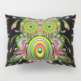 Owl Psychedelic Art Design Pillow Sham