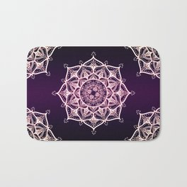 Violet Glowing Spirit Mandala Bath Mat