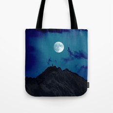 night on the mountain Tote Bag