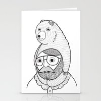 hats Stationery Cards featuring On how baby bears are often used as winter hats by Michael C. Hsiung