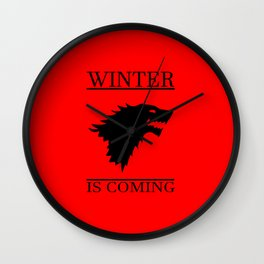 winter cool saying t.v quote and banner Wall Clock