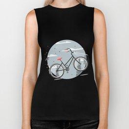 Bycicle illustration. Cartoon style. Biker Tank