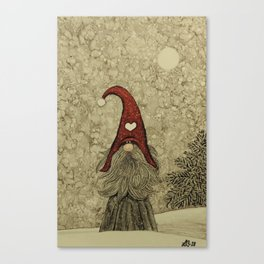 "Old ""Tomten Elmer"" is longing for Christmas time. Canvas Print"
