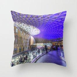 Kings Cross Station London Throw Pillow