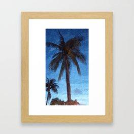 Bahama Palms at Dusk Framed Art Print