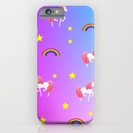 rainbows and unicorns pattern iPhone Case