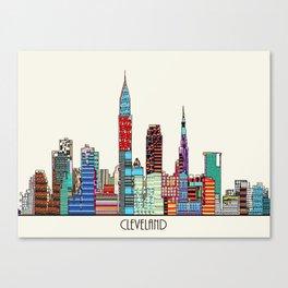 Cleveland city  Canvas Print