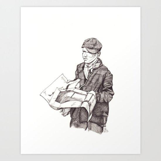 Newsboy Art Print