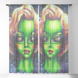 Iconic Alien Women: Marilyn Sheer Curtain