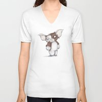 gizmo V-neck T-shirts featuring Gizmo Plushie by Ludwig Van Bacon