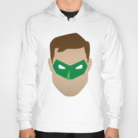 green lantern Hoodies featuring Green Lantern by Sport_Designs