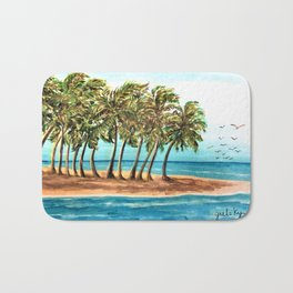 Private Island Painting Bath Mat