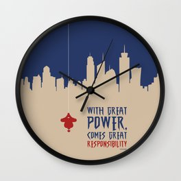 Lab No. 4 - Great power comes great responsibility Voltaire Quotes Poster Wall Clock
