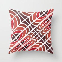 Red Wine pattern geometric Throw Pillow