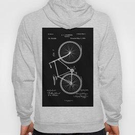 Vintage Bicycle Patent Black Hoody