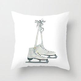 Figure skates Throw Pillow