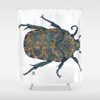 beetle Shower Curtains featuring Beetle by MSRomeiro