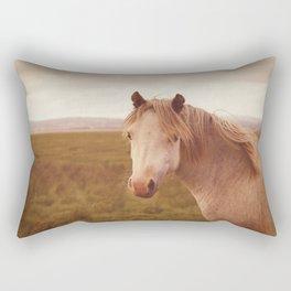 Vintage wild horse Rectangular Pillow