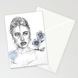 Blue flowergirl Stationery Cards