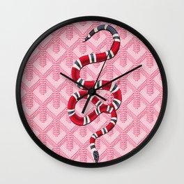 Goyard Pink Snake Wall Clock