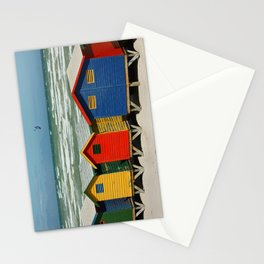 southafrica ... muizenberg beach huts II Stationery Cards