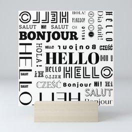Hello, Hi, Bonjour, Salut Mini Art Print