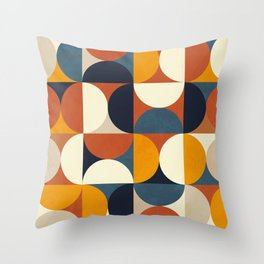 mid century abstract shapes fall winter 3 Throw Pillow