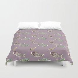 Koi Lavender Duvet Cover