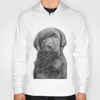 labrador Hoodies featuring labrador puppy by Necla Karahalil