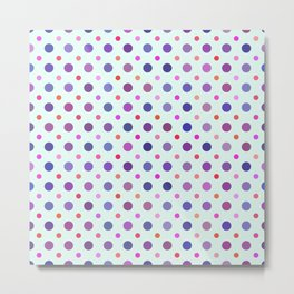 Random Violet Dots Pattern Metal Print