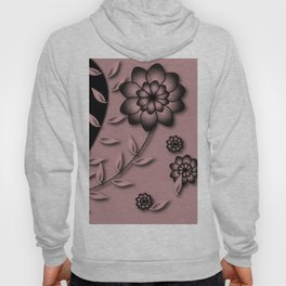 Bridal Rose Floral Abstract Hoody