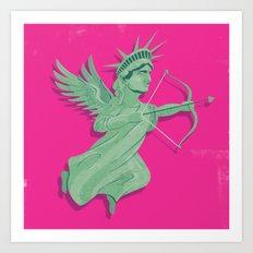 Dating in New York Art Print