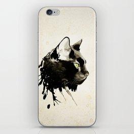 Boxcar, the Black Cat. iPhone Skin