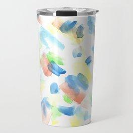 180527 Abstract Watercolour 1| Watercolor Brush Strokes Travel Mug