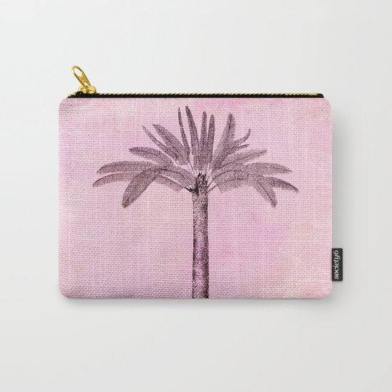Pink Retro Palmtree Carry-All Pouch