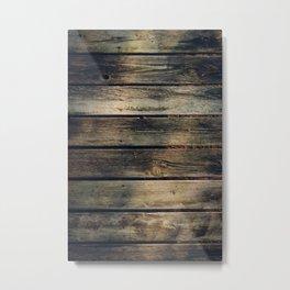 Rustic Barn Wood Metal Print