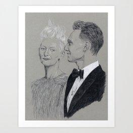 Tom Hiddleston and Tilda Swinton Art Print