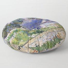 Vincent Van Gogh Houses At Auvers Floor Pillow