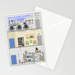 Office Building Stationery Cards
