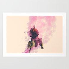 Rose and Smoke Romance Art Print