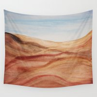 desert Wall Tapestries featuring Desert by Lyubov Fonareva