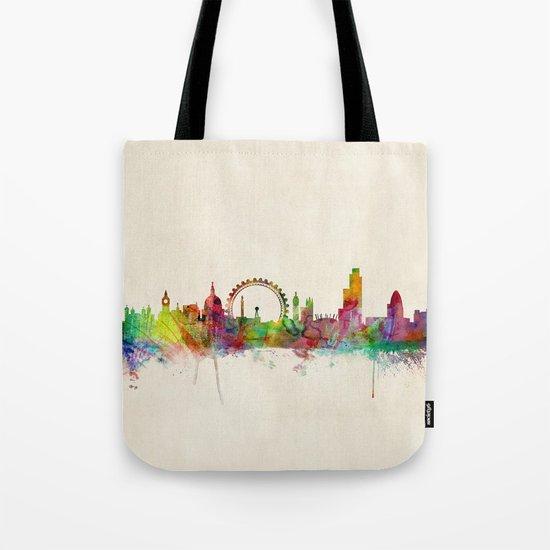 London Skyline Watercolor Tote Bag