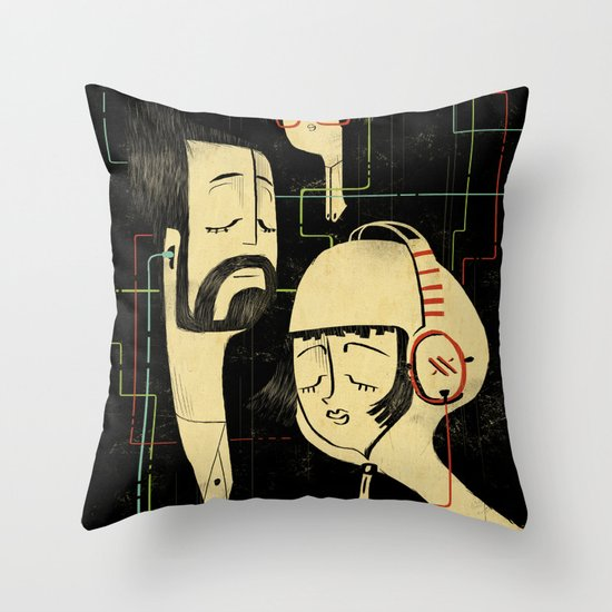 乐 Music v.2 / Vintage / Musicians Throw Pillow