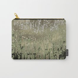 Green and Cream Carry-All Pouch