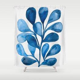 Watercolor Ocean Life II Shower Curtain