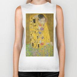 """Gustav Klimt """"The Kiss"""" Biker Tank"""