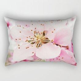 Pink Plum Blossoms Rectangular Pillow
