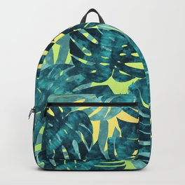 Composition tropical leaves XIV Backpack