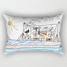 Mail Cargo Ship Rectangular Pillow
