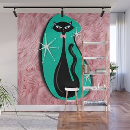 Vintage Sparkle Kitty  Wall Mural